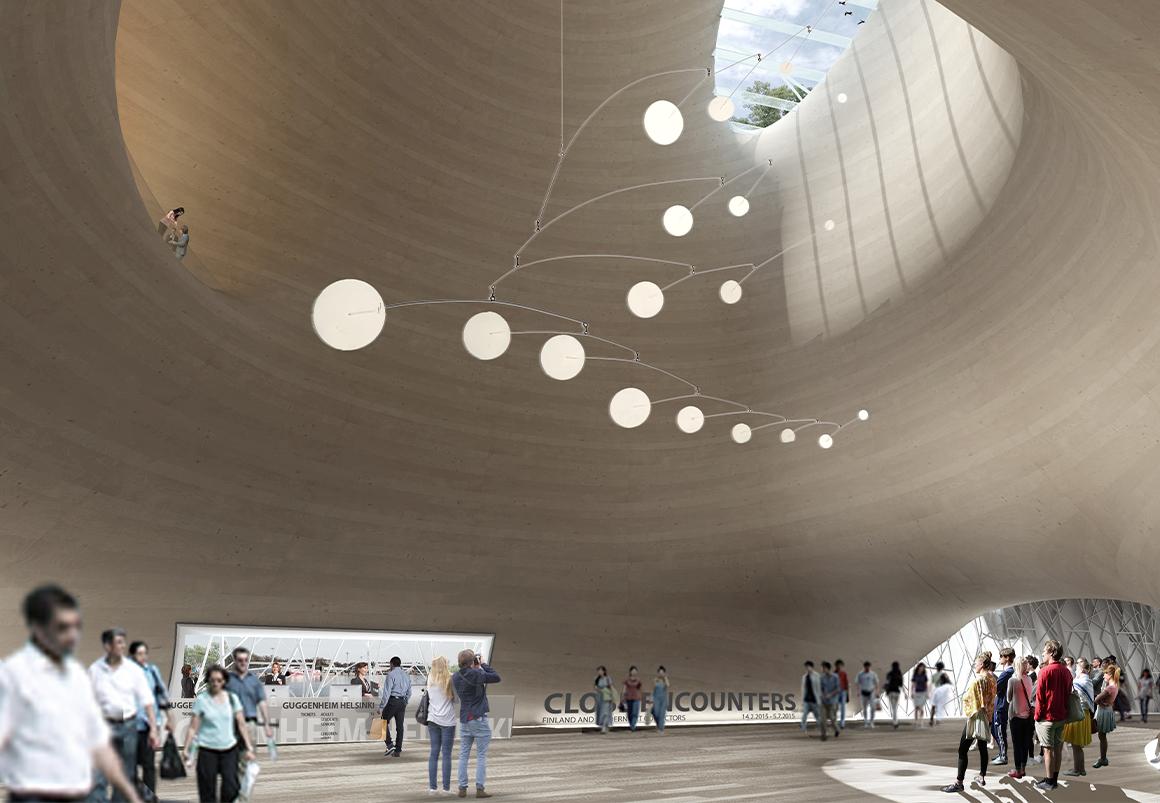 Studio Twenty Seven Architecture Guggenheim Museum Helsinki Gallery rendering