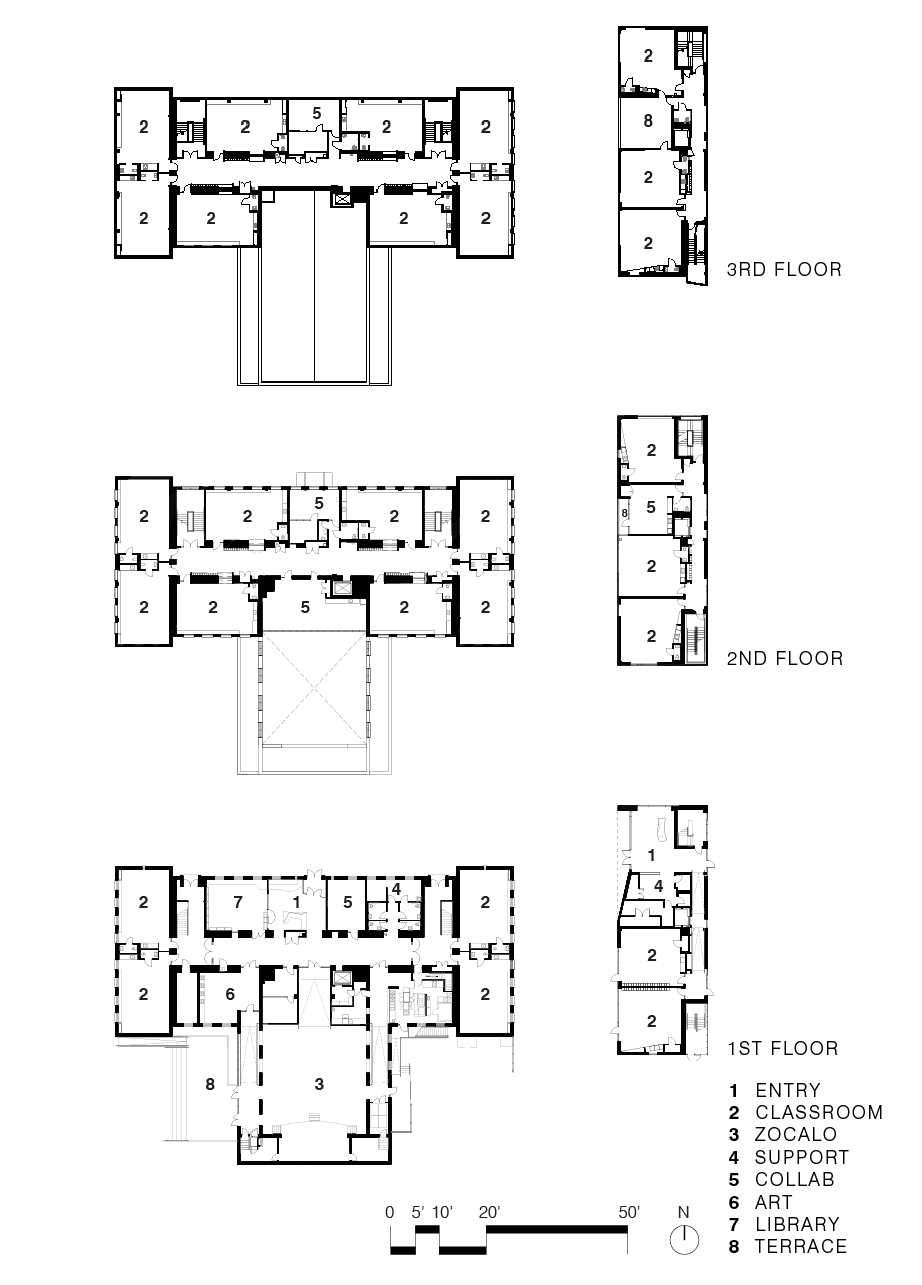 Floorplans for Mundo Verde School