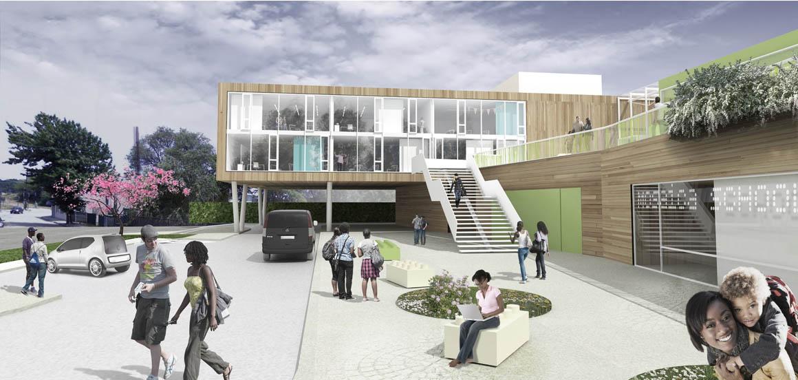 Mosaica Academy Studio Twenty Seven Architecture - Exterior Rendering
